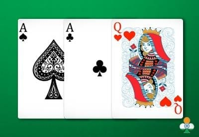 teen patti hand a pair of ace with queen of heart