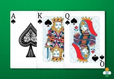 teen patti hand Ace-King-Queen of spades