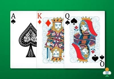 teen patti hand an ace of spades, a king of diamonds and a queen of spades