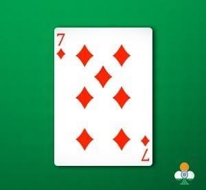 andar-bahar top card in bahar an 7 of diamonds