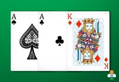 teen patti hand a pair of ace with king of diamond