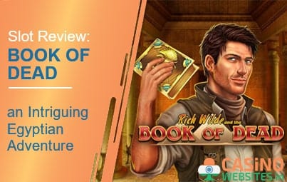 Book of dead slot review banner