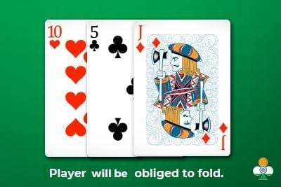 teen patti bust card draw obliged to fold