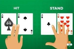 hit vs stand in blackjack