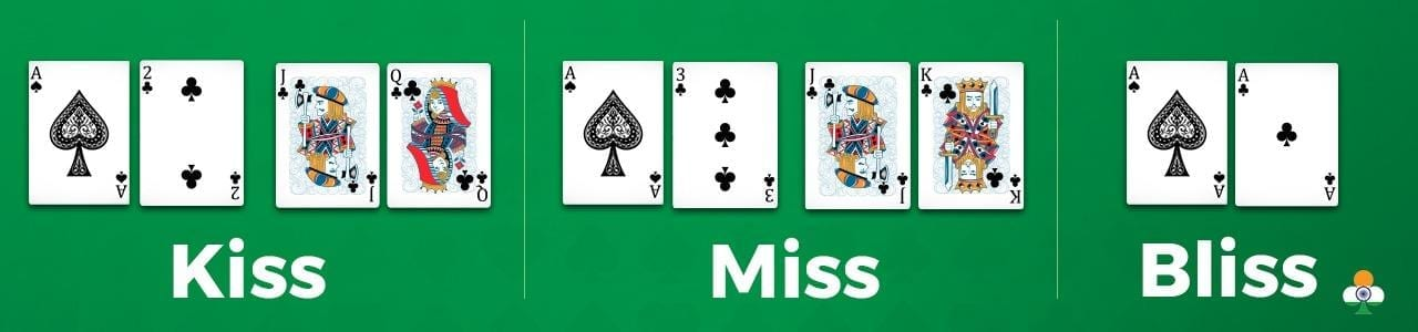 teen-patti kiss, miss and bliss wild cards