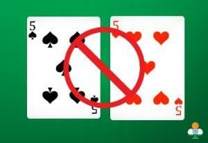 never split a pair in blackjack
