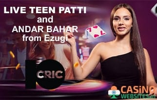 Live Teen Patti and Andar Bahar from Ezugi at 10Cric