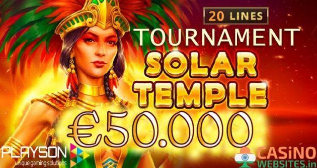 SOLAR TEMPLE €50K TOURNAMENT banner