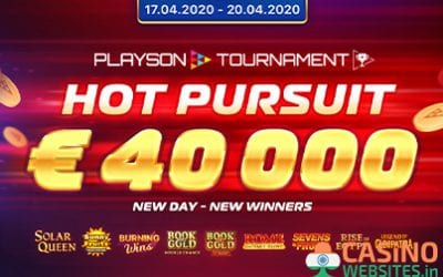 Enter Playson's €40k Hot Pursuit Tournament this April