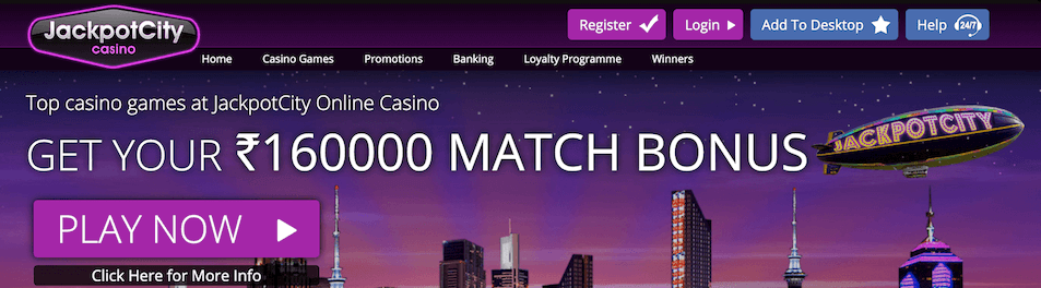 jackpotcity casino bonus offer