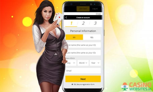 how to register to an indian online casino?