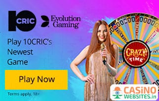 10Cric Launches Evolution's Crazy Time